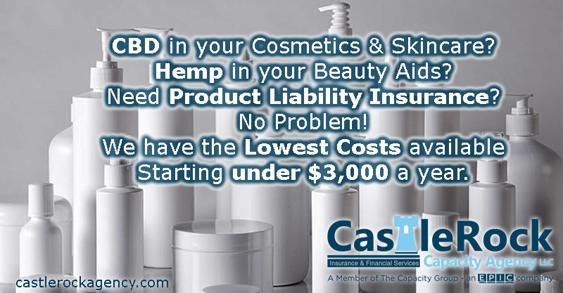 CBD and Hemp Based Cosmetic Product Liability Insurance